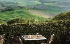 View of Tuscany from the restaurant.