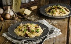 Italian risotto with mushrooms.