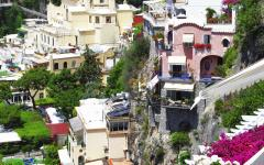 View of the beautiful Italian village of Positano