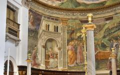 The interior of Spoleto Cathedral in Umbria.