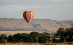 A balloon ride over the masai mara.
