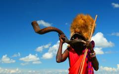 Warrior in Masai Mara National Park.