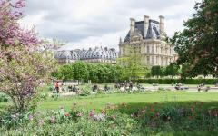 The Louvre Palace and Tuileries Garden, Paris.