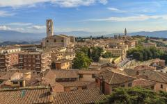View of the Perugia, Italy skyline