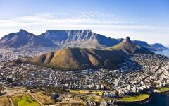 Areial view of Cape Town.