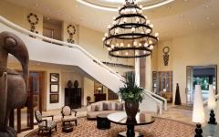 Lobby of the Saxon Hotel in Johannesburg.