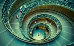 Bramante Staircase in the Vatican museum in Rome, Italy