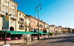 Marketplace strip in Verona, Italy