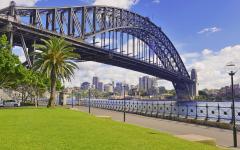 Sydney Harbour bridge skyline.