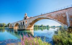 A bridge in Avignon.