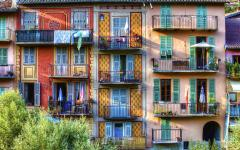 Colorful facades in Provence.
