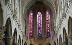 Stained glass in a Parisian church.