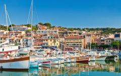 The town of Cassis in the French Riviera.
