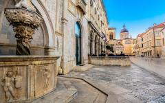 The historic buildings in Dubrovnik, Croatia.