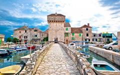 The harbor in Split, Croatia.