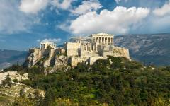 The mountain top of the Acropolis of Athens