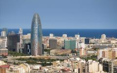 Architecture in Barcelona, Spain.