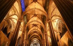 Inside the cathedral la seu.