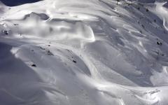 Winter ski resort.