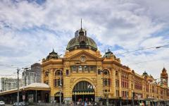 Flinders Street Station on a busy day.