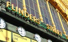 Flinders Street Station in Melbourne.