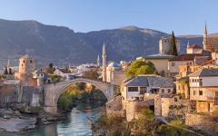 The famous Stari Most bridge in Mostar, Bosnia and Herzegovina.