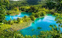A stunning view of Plitvice National Park in central Croatia.