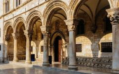 Arches at Rector's Palace in Dubrovnik, Croatia.