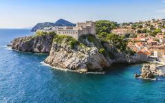 The Adriatic coastline in Croatia featuring Dubrovnik.