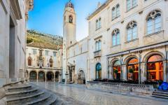 The historic center of Dubrovnik in Croatia.