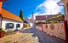 Street in Varaždin in northern Croatia.