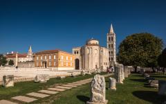 Zadar church in Croatia.