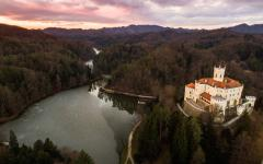 Stunning view of Zagorje castle in Croatia.