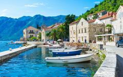 Perast's port in Montenegro.