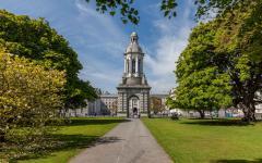 Trinity College in Dublin, Ireland on a sunny day.