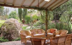 Outdoor seating at Villa Urubamba. Photo: Courtesy Villa Urubamba