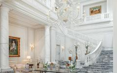 The lobby at Palazzo Parigi in Milan. Credit: Courtesy Palazzo Parigi