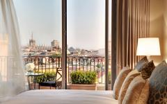 A guest room at Palazzo Parigi in Milan. Credit: Courtesy Palazzo Parigi