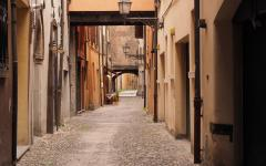 Ferrara Italy streets in medieval area