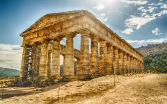 The Temple of Segesta in Sicily, Italy