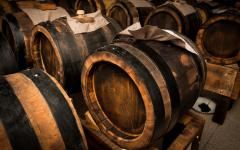 Barrels of Italian balsamic vinegar