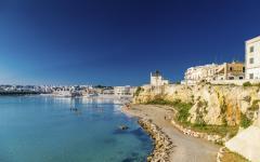 View of coastline in Lecce, Italy