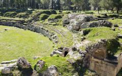 Ruins in Syracuse, Sicily, Italy