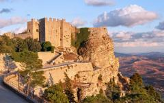 Castello di Venere in Sicily, Italy at sunset