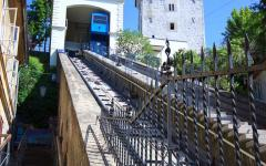 The funicular in Zagreb, Croatia.