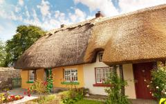 Traditional Cottages in Adare, Ireland.