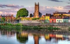Limerick city stands along the River Shannon.