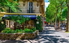 Saint Germain boulevard on the left bank in Paris