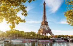 Eiffel tower, in Paris, France.