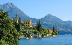 Varenna Village on the east side of Lake Como, Italy at midday
